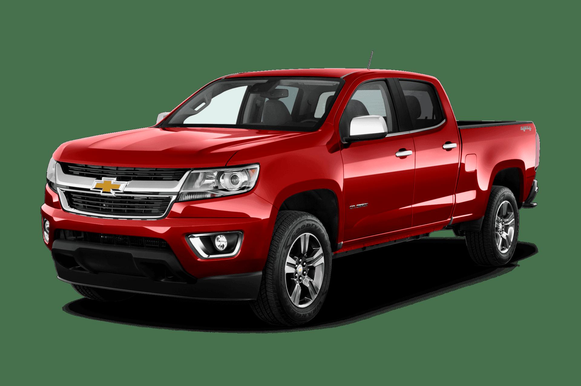 A red Chevrolet Colorado