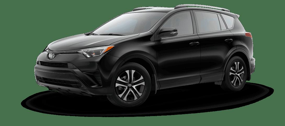A black Toyota RAV4