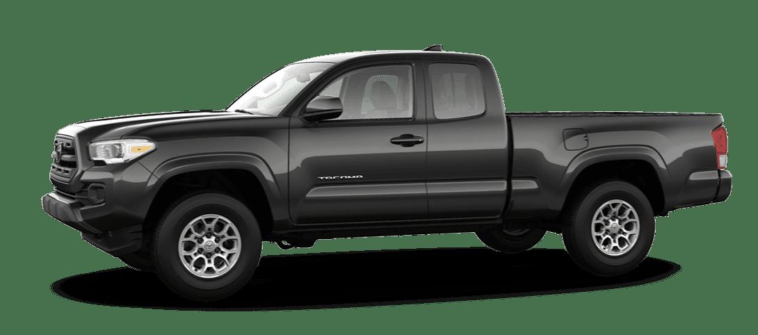 A black Toyota Tacoma