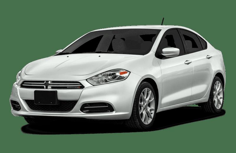 A white Dodge Dart