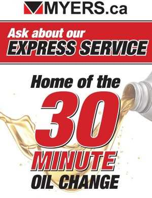 Myers Automotive Group Express Service 30 Minute oil change poster