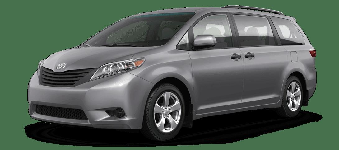 A dark gray Toyota Sienna