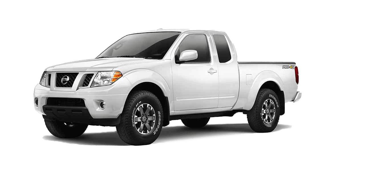 A white Nissan Frontier