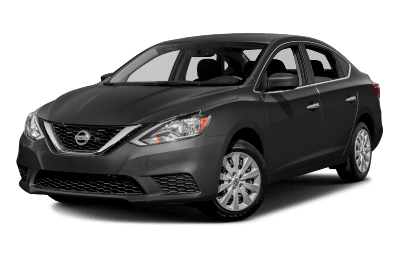 A black Nissan Sentra