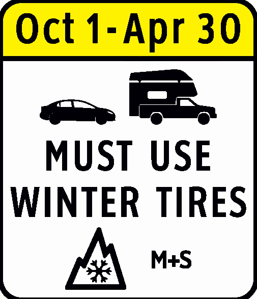 Winter tire required in BC Highway
