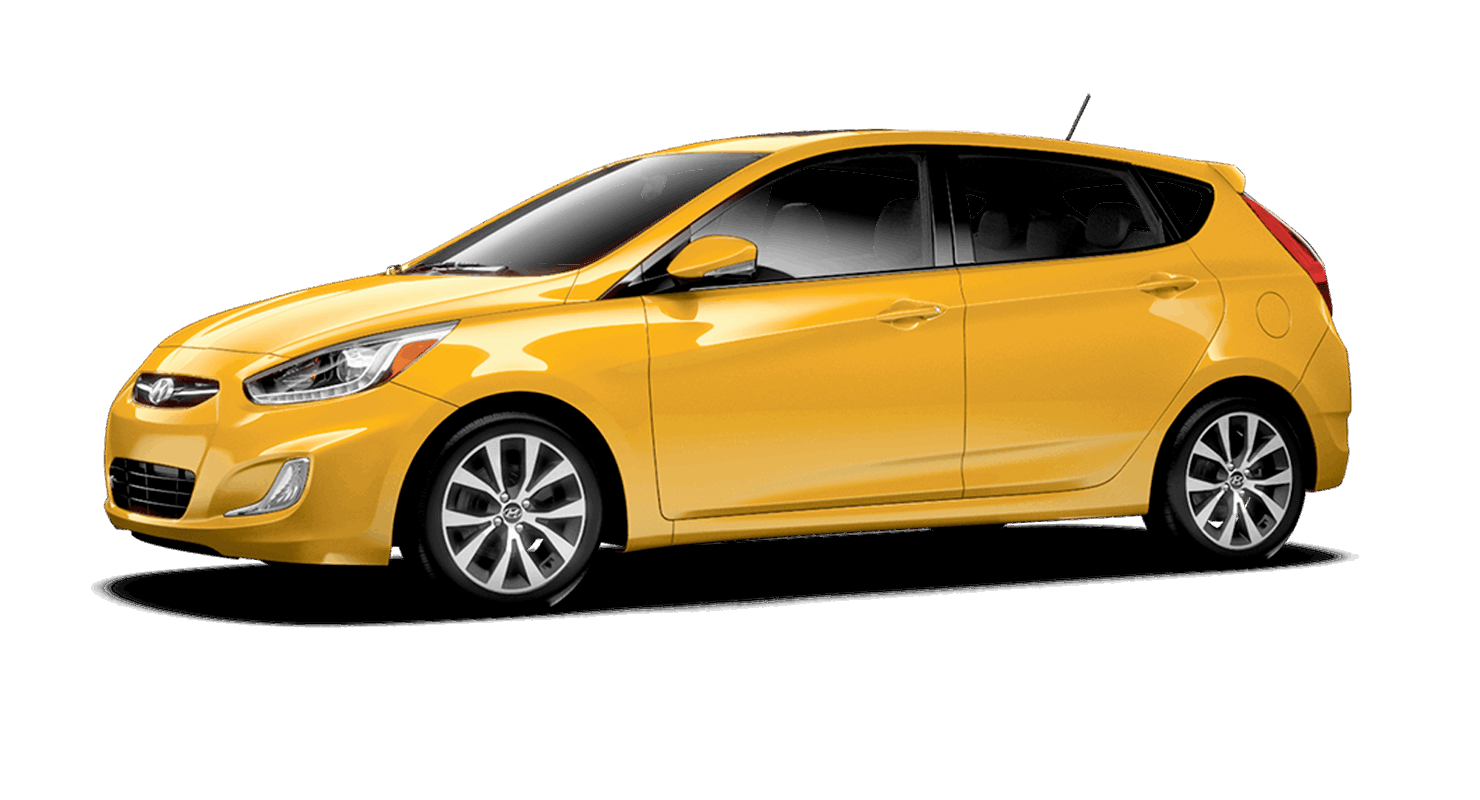 Yellow Hyundai Accent