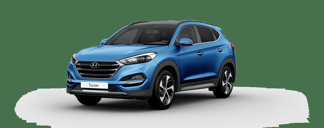 Blue Hyundai Tucson