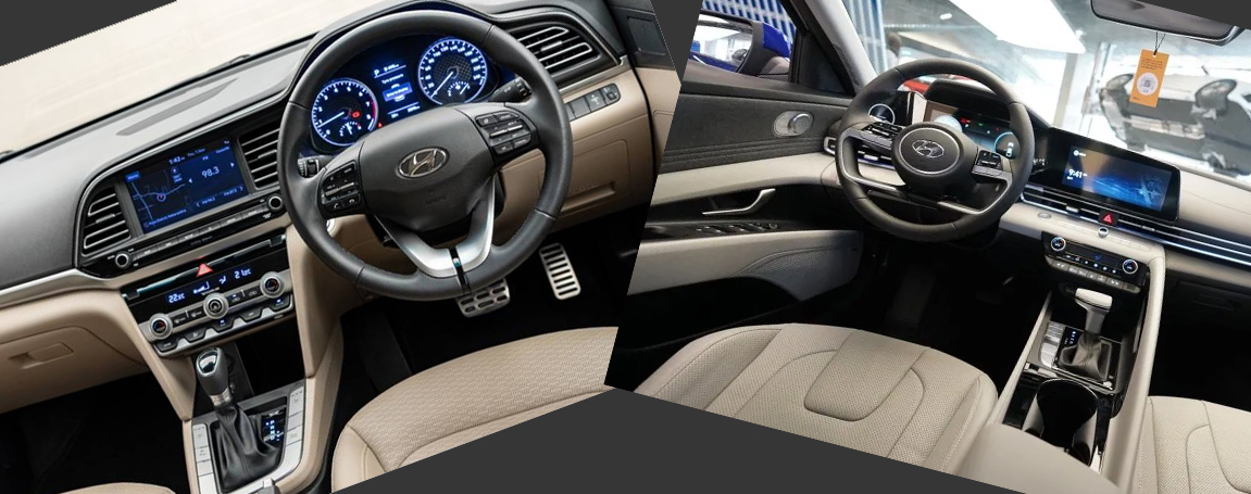 2020 vs 2021 Hyundai Elantra Interior