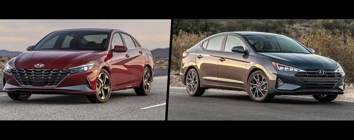 2020 vs 2021 Hyundai Elantra Technology