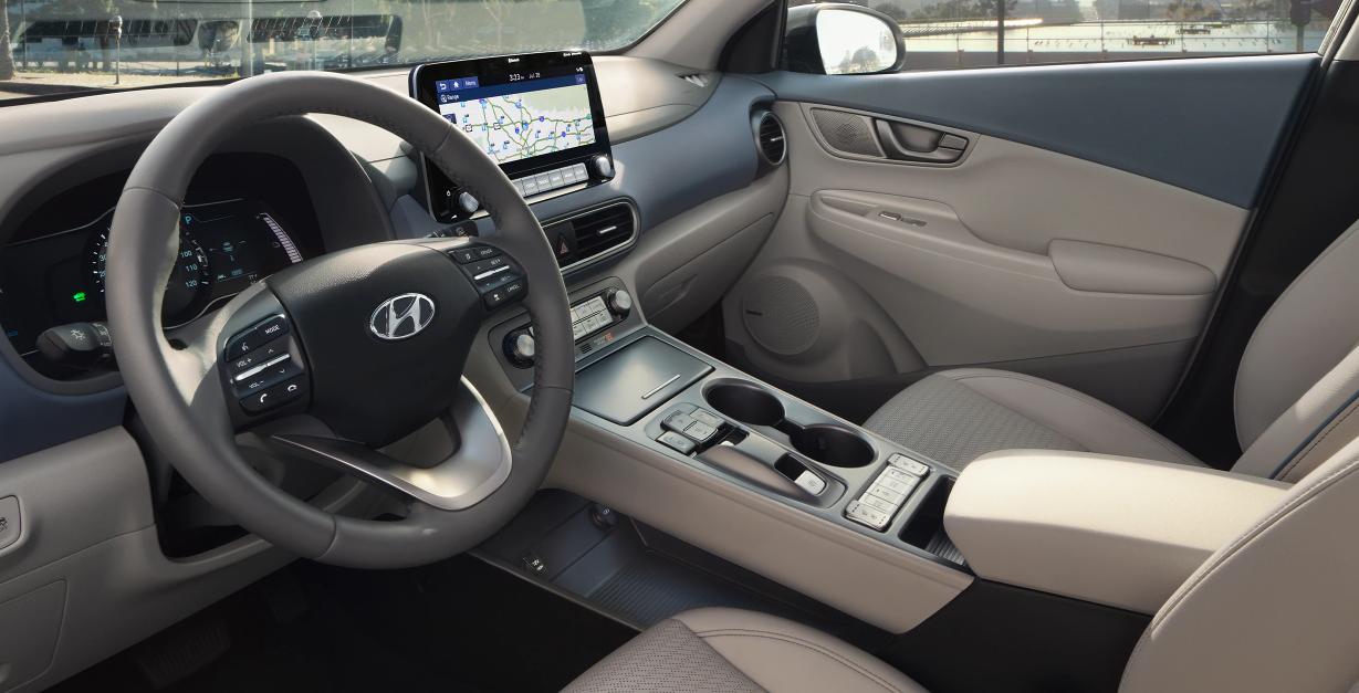 2021 Hyundai Kona Electric Grey Interior