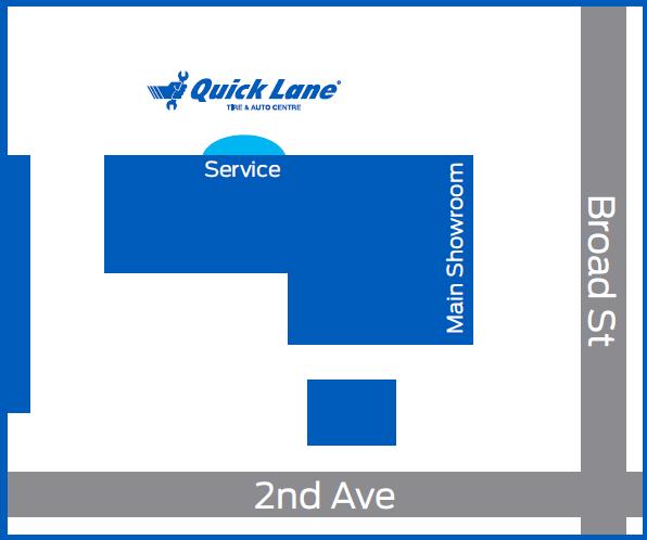 quick lane map