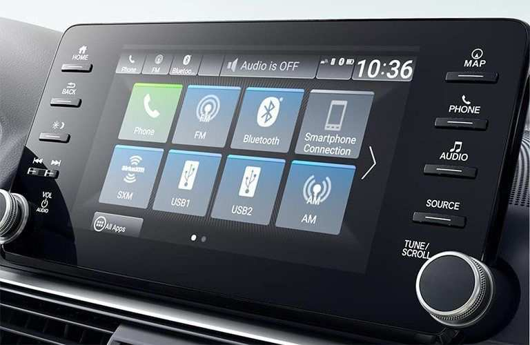 touch screen in the honda accord