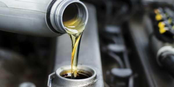 Oil Change in Progress