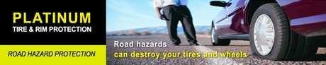 Honda Platinum Tire and Rim Protection and road hazard coverage in Edmonton, Alberta